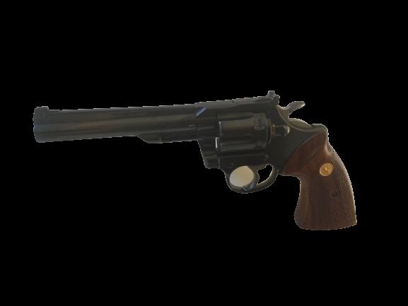 """Schwarz brünierter Colt Trooper Revolver MK III 6"""" im Kaliber .357 Magnum"""