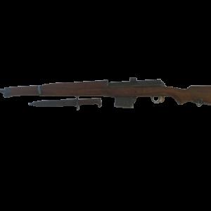 Hakim Selbstladebüchse Modell 42/49 im Kaliber 8x57 IS mit braunem Buchenschaft