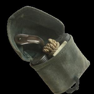 Schweizer Waffenreinigungsset für das Infanteriegewehr 11 oder die Karabiner K11 oder K31 in einer Stofftasche