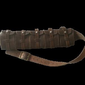 Schwedenmauser Patronentasche (Bandolier) aus braunem Leder