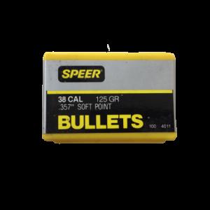 50 Speer Matchgeschosse im Kaliber .38/.357 Soft Point 125 gr